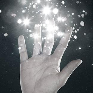 sparkling hand