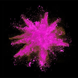 pink powder spalsh