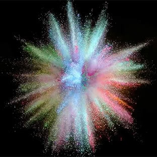 colorful powder splash