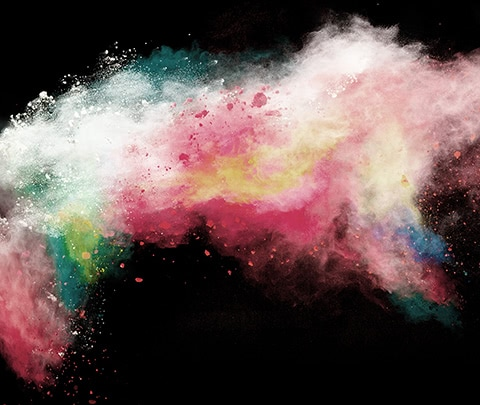 color powder splash