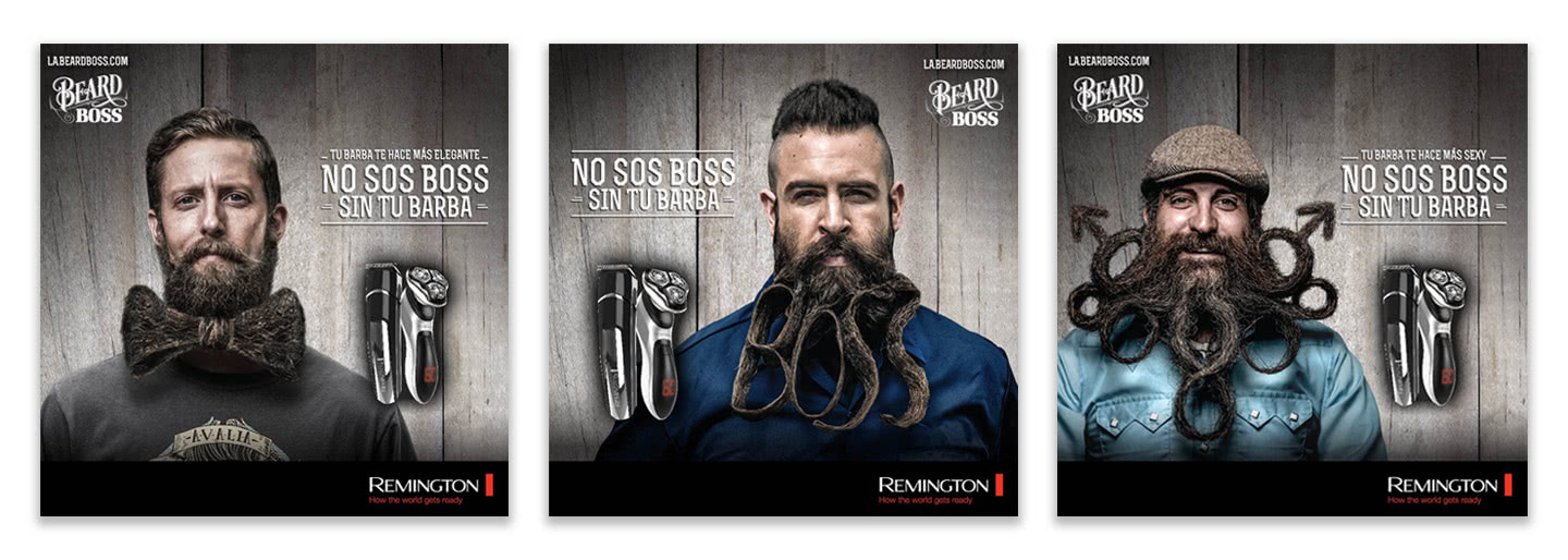 remington beard boss case study ads