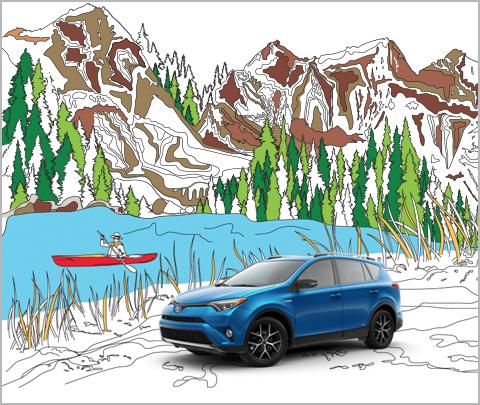 toyota rav4 coloring book thumbnail
