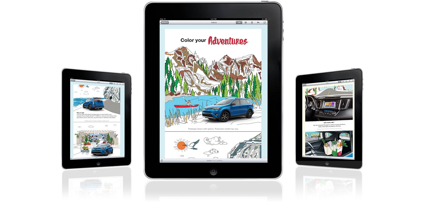 toyota rav4 coloring book app on tablets