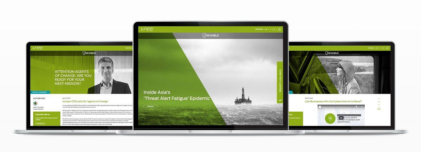 juniper case study image with green landing pages