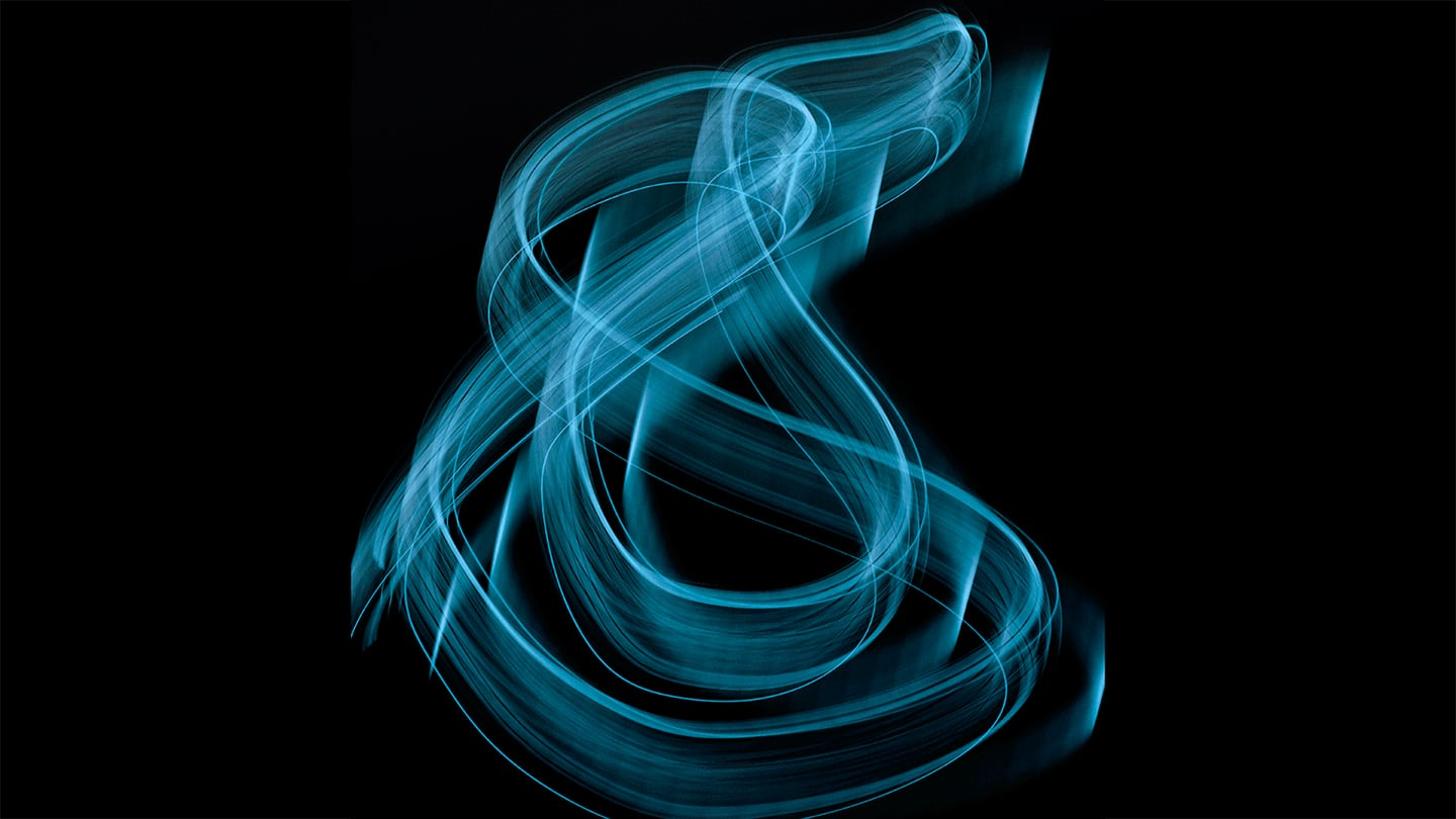 blue neon ampersand